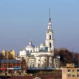 Собор предположения, собор троицы и колокольня в Kineshma Стоковые Фото