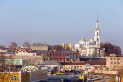 Собор предположения, собор троицы и колокольня в Kineshma Стоковые Фотографии RF