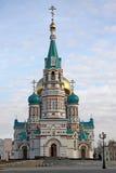 Собор предположения собор Dormition в Омске Стоковое Изображение