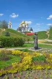 Собор предположения Dmitrov Кремля, России Стоковые Изображения RF