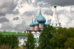 собор придает куполообразную форму: рождество Россию suzdal Стоковые Изображения RF