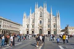 Собор рождества di Милана Duomo девой марии Милан, Италия стоковая фотография rf