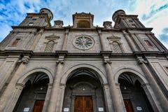 Собор Санта-Ана (святой Собор-базилики Canaries) в Las Palmas Стоковое Изображение RF