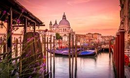 Собор салюта della Santa Maria, Венеция стоковые фотографии rf