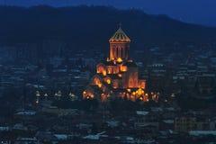 Собор святейшей троицы Тбилиси Стоковые Изображения RF