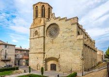 Собор Святого Мишеля в Каркассоне - Франции Стоковое Изображение RF