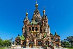 Собор святой Питера и церковь Паыля в Peterhof Стоковые Изображения RF