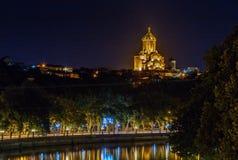 Собор святой троицы Тбилиси, Georgia стоковое фото rf