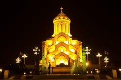 Собор святой троицы Тбилиси Sameba Стоковые Изображения