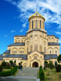 Собор святой троицы Sameba, Тбилиси Стоковая Фотография