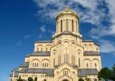 Собор святой троицы Sameba, Тбилиси Стоковое Изображение RF