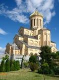 Собор святой троицы Sameba, Тбилиси Стоковые Фото