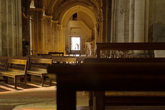 Собор Свят-Винсент, sur Saone Chalon, Франция стоковая фотография rf