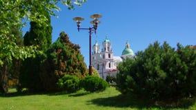 Собор Св.а Франциск Св. Франциск Xavier в центре города в Grodn акции видеоматериалы