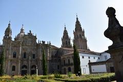 Собор Северный фасад, Azabacheria Santiago de Compostela, Галиция Испания стоковое фото rf