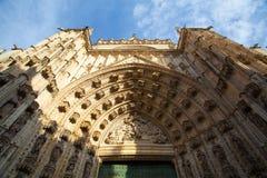 Собор Севильи на заходе солнца Испания Стоковые Изображения RF