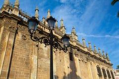 Собор Севильи на заходе солнца Испания Стоковые Фотографии RF