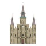 Собор Сент-Луис квадрата Джексона Стоковое Изображение