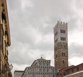 Собор Сен-Мартен Лукки Лукки Тосканы Италии стоковое изображение rf