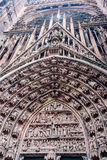 Собор страсбурга - римско-католический ca Стоковая Фотография