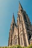 Собор страсбурга, Франции, около реки Стоковые Фотографии RF