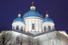 Собор троицы с освещением на ноче Стоковые Фотографии RF