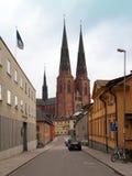 Собор Упсала, Швеция Стоковое Изображение RF