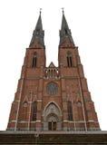 Собор Упсала, Швеция Стоковое Фото