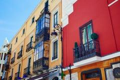 Собор улицы Леона Calle Ancha аккуратный на Кастилии Стоковое Изображение RF