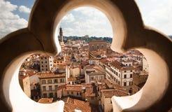 Собор Флоренса, Италии, Флоренса, Италии, Флоренса, городской пейзаж от башни Giotto Стоковые Фото