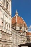 Собор Флоренса, Италии, Флоренса, купол Brunnaleski, купол fr Brunnaleski городского пейзажа, городской пейзаж от башни Giotto Стоковые Изображения RF