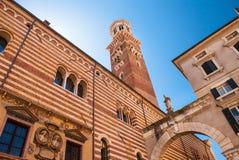 Собор Флоренса, Италии, Флоренса, купол Brunnaleski, купол fr Brunnaleski городского пейзажа, городской пейзаж от башни Giotto Стоковое Изображение RF