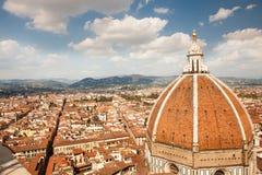 Собор Флоренса, Флоренса, купол Brunnaleski Стоковые Изображения RF