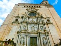 Собор Хероны в архитектуре Каталонии, Испании, романск, готических и барочных Стоковые Изображения RF