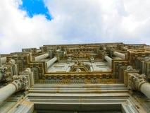Собор Хероны в архитектуре Каталонии, Испании, романск, готических и барочных Стоковое фото RF