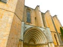 Собор Хероны в архитектуре Каталонии, Испании, романск, готических и барочных Стоковые Фотографии RF