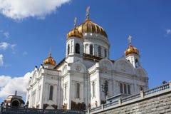 Собор Христоса спаситель в Москве стоковые изображения