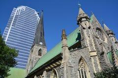 Собор церков Христоса anglican Монреаля Стоковое Изображение
