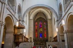 Собор Цюриха Швейцарии Стоковая Фотография RF
