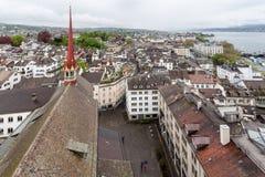 Собор Цюриха Швейцарии Стоковые Фото