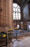 Собор Джина Святого внутрь, Лион Франция Стоковые Фото
