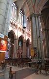 Собор Джина Святого внутрь, Лион Франция Стоковые Изображения RF
