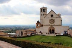 Собор Assisi в Италии Стоковые Изображения