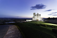 Собор Assisi Стоковое Фото