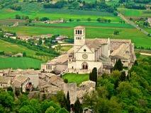 Собор Assisi стоковое фото rf
