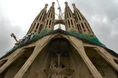 собор barcelona незаконченный Стоковые Изображения RF