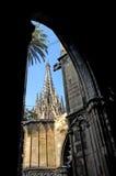 собор barcelona Стоковая Фотография