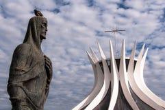Собор brasilia Стоковые Изображения RF