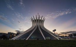 Собор Brasilia - Brasília - DF - Бразилия Стоковое фото RF