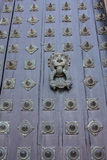собор compostela de дверь santiago Испания Стоковое Изображение